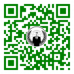 Im QR-Code ist das Bild vom Author Anonymous eingebettet - Quelle: commons.wikimedia.org/wiki/File:Anonymous_emblem.svg